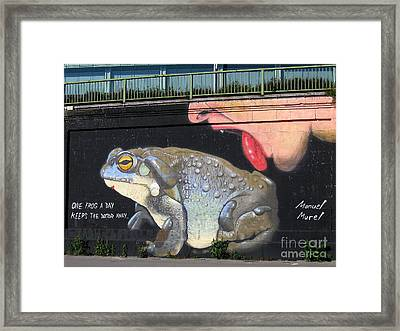 Framed Print featuring the photograph A Frog A Day Keeps The Doctor Away by Menega Sabidussi