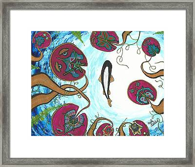 A Frog's Sky View Framed Print