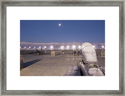 A Frosty Fighter Morning Framed Print by Tim Grams