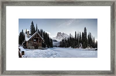 A Frozen Emerald Lake Morning Framed Print by Brad Allen Fine Art