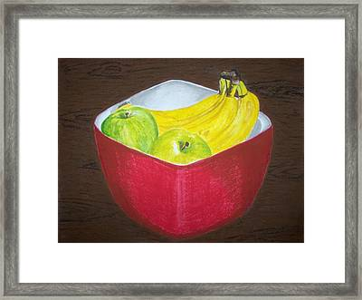 A Fruit A Day Framed Print by Sanchia Fernandes