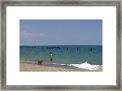 Framed Print featuring the photograph A Fun Day At The Beach by Skyler Tipton