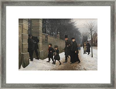 A Funeral Framed Print