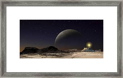 A Futuristic Space Scene Inspired Framed Print by Frank Hettick