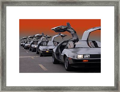 A Gaggle Of Gullwings Framed Print by Bill Dutting