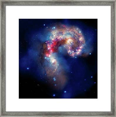 Framed Print featuring the photograph A Galactic Spectacle by Marco Oliveira