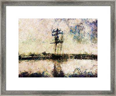 Framed Print featuring the photograph A Gallant Ship by Claire Bull