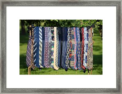 A Gallery Of Ties Framed Print
