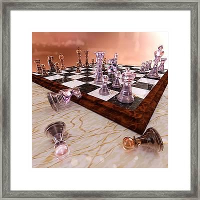 A Game Of Chess Framed Print by Bonnie Phantasm