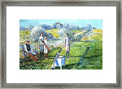 A Game Of Golf, 1923 Framed Print by Childe Hassam