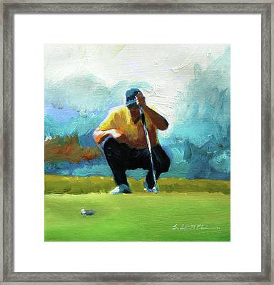 A Game Of Inches Framed Print