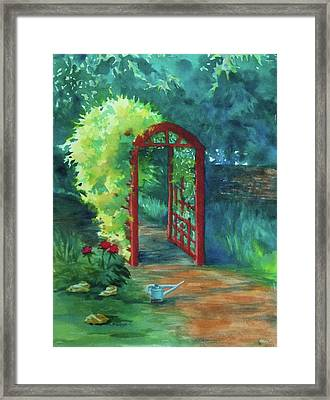 A Garden For Lee Framed Print