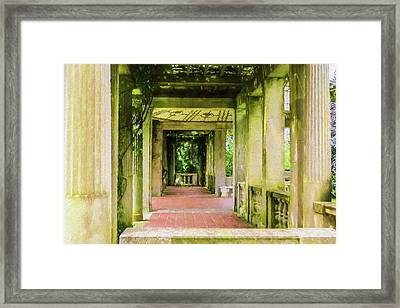 A Garden House Entryway. Framed Print