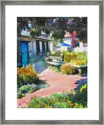 A Garden In Harmony Framed Print by Elaine Plesser