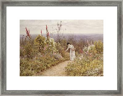 A Garden In October, Aldworth, 1891 Framed Print