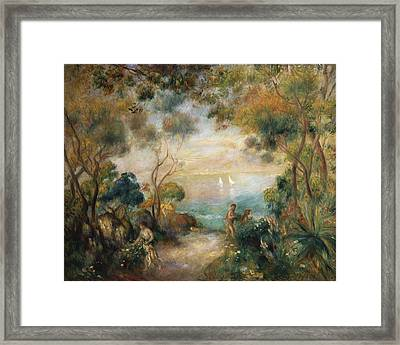 A Garden In Sorrento Framed Print by Pierre Auguste Renoir