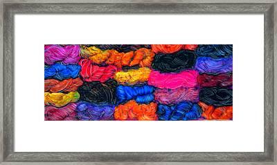 A Garden Of Yarn Framed Print