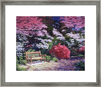A Garden Place Framed Print by David Lloyd Glover