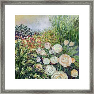 A Garden Romance Framed Print
