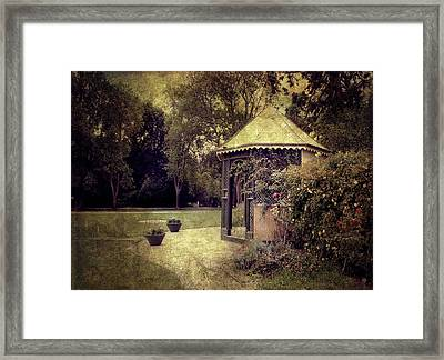 Framed Print featuring the digital art A Garden Somewhere by Margaret Hormann Bfa