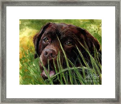 Framed Print featuring the painting A Gardener's Friend by Molly Poole