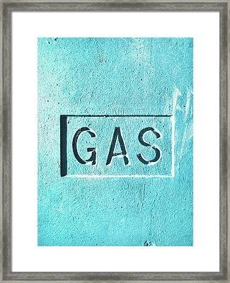 A Gas Sign Framed Print