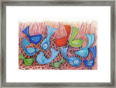 A Gathering Of Friends Framed Print by Linda Kay Thomas