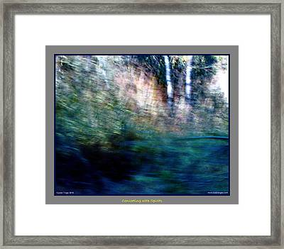 A Gathering Of Ghosts  Framed Print by Jane Tripp