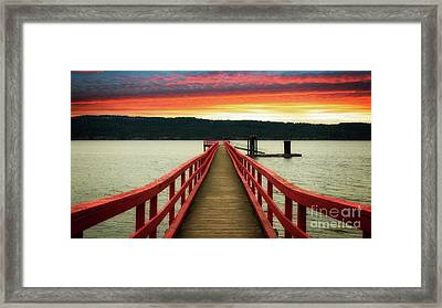 A Gentle Evening Framed Print by Rod Jellison