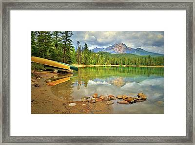 Framed Print featuring the photograph A Gentle Light At Lake Annette by Tara Turner
