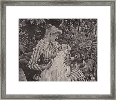 A Gentle Reminder  Framed Print by Frederick Morgan