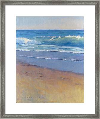 Gentle Wave / Crystal Cove Framed Print