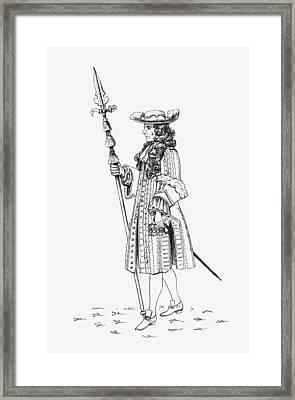 A Gentleman Pensioner, Aka The Framed Print by Vintage Design Pics