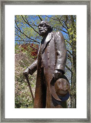 A Gentleman Walking The Public Garden On A Beautiful Spring Day Boston Ma Framed Print by Toby McGuire