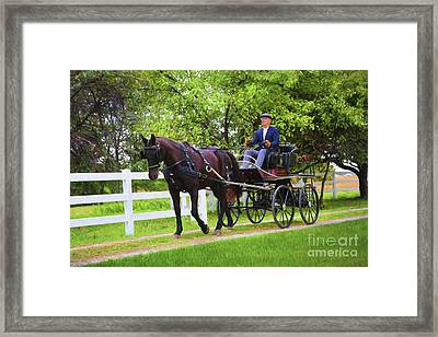 A Gentleman's Sunday Ride Framed Print by Sharon McConnell