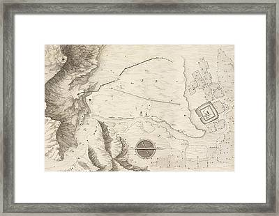 A Geometrical Plan Of The Ruined City Of Palmyra, 1753 Framed Print by Giovanni Battista Borra