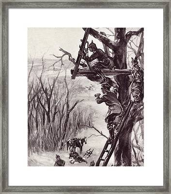 A German Artillery Observation Post Framed Print by Vintage Design Pics