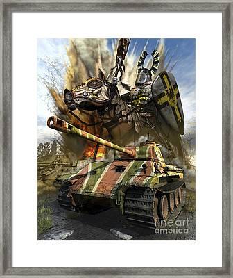 A German Panzer V Medium Tank Framed Print