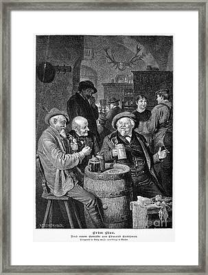 A German Tavern Framed Print by Granger