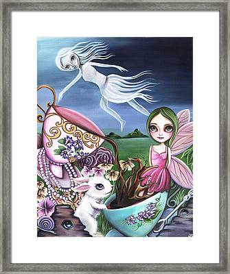 A Ghost Flew Over The Tea Party Framed Print