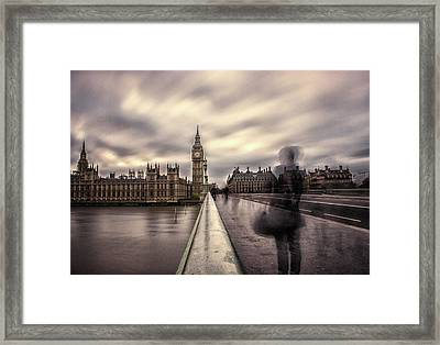 A Ghostly Figure Framed Print