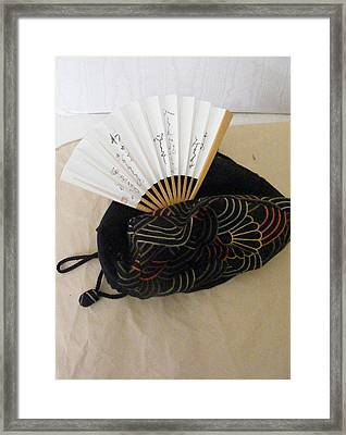 A Gift From Japan Framed Print by Nancy Kane Chapman