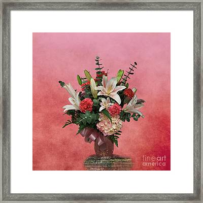 A Gift Of Flowers Framed Print