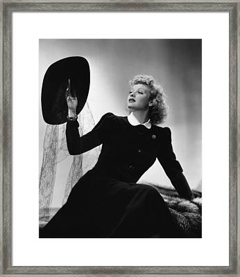 A Girl, A Guy And A Gob, Lucille Ball Framed Print