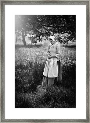 A Girl And Her Chicken Framed Print by Eduard Moldoveanu