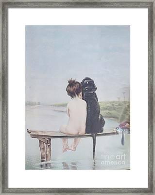 Bathing Beauties By Bruno Piglhein Framed Print