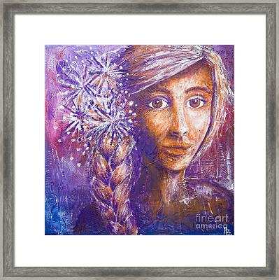 A Girl Framed Print by Home Art