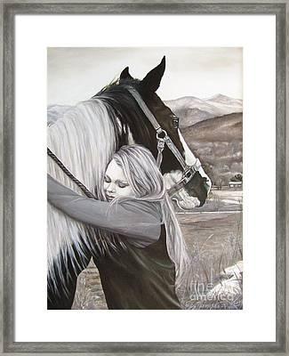 A Girls Best Friend Framed Print