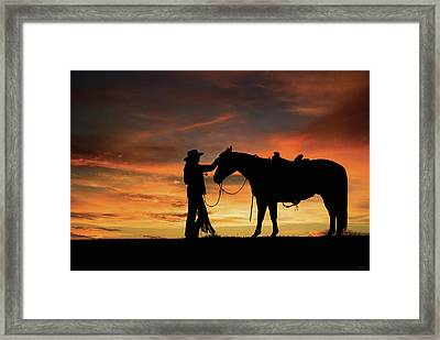 A Girl's Best Friend Framed Print