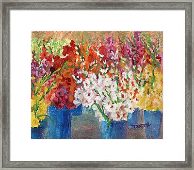 A Gladiola Party Framed Print by Jimmie Trotter